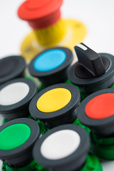 pulsadores para paneles de control